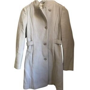 REISS Baby Blue Wool Trench Coat XS $800